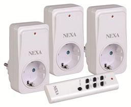 Nykomna NEXA NEYC-3 3st fjärrstyrda strömbrytare - Styrbart eluttag PX-14